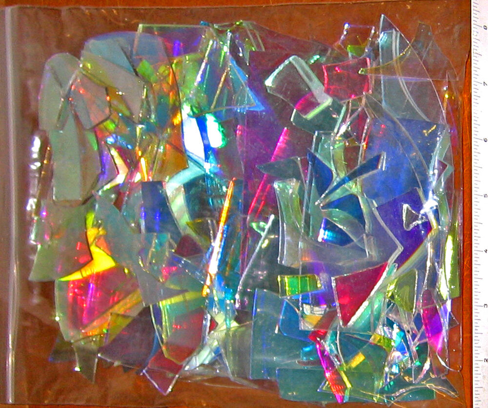 Dichroic Hot Glass Scrap One1 Bag Coe33 Borosilicate Boro