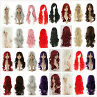70CM Fashion Women Long Curly Fancy Dress Full  Wig Costume Cosplay Party+Cap