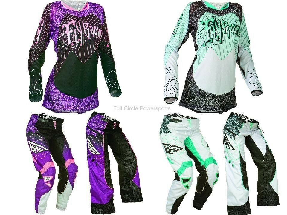 Fly Racing Kinetic Women S Girl S Pink Teal White Jersey