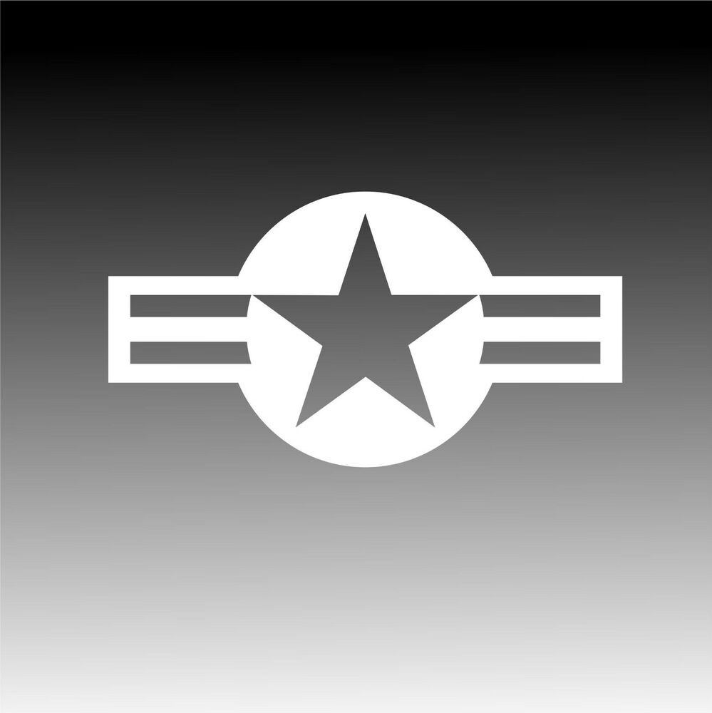 USAF Roundel Sticker Military Insignia Star and Bars Decal ...