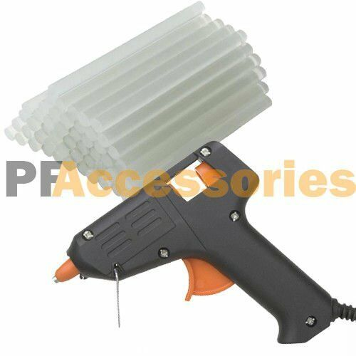 Hot melt glue gun with 60 mini clear glue sticks for arts for Hot glue guns for crafts