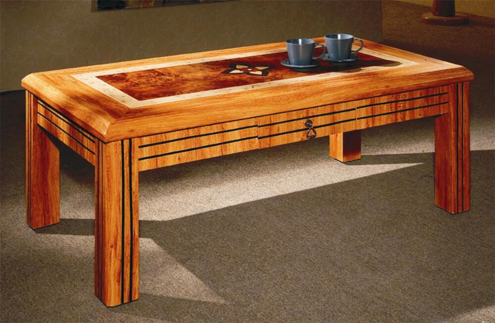Mdf Coffee Table Crafted Top Solid Made In Pine Colour With Drawer Modern New Ebay