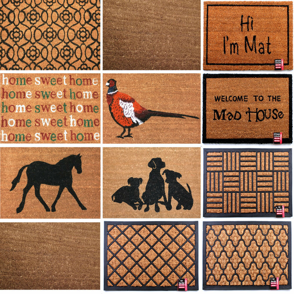 coir rubber doormat non slip door mat floor mat indoor outdoor mat