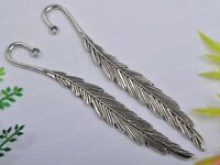 FREE SHIP 10pcs Tibetan Silver Feather Bookmarks 116MM JK0628
