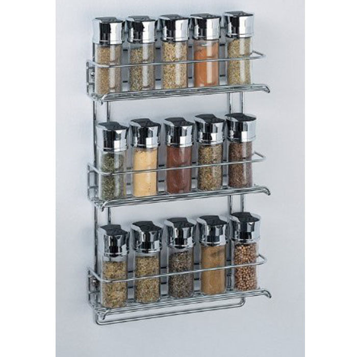 Spice Rack 3 Tier Wall Mounted Organizer Kitchen Spice