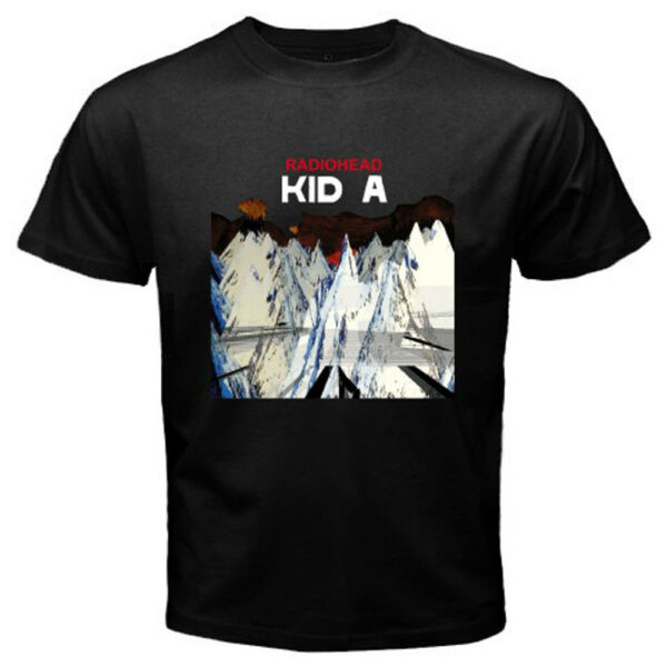 New RADIOHEAD KID A Rock Band Logo Men's Black T-Shirt Size S to 3XL