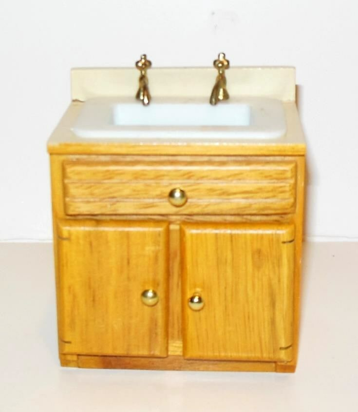 kitchen sink furniture modern kitchen sink dollhouse furniture miniatures ebay 2720