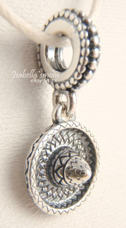 Sombrero authentic pandora silver mexican hanging dangle charm bead