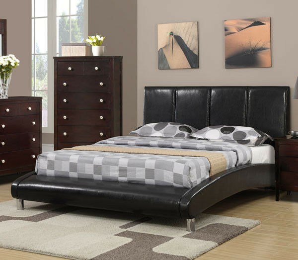 contemporary platform beds new lucerne contemporary black bycast leather or 11230