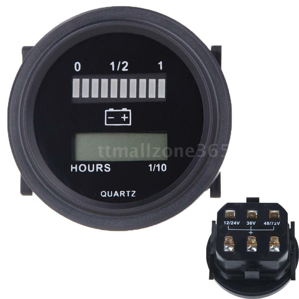 Battery 24 Volt Hour Meter : V quot car hour meter gauge battery indicator