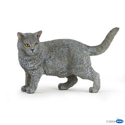 Kyпить NEW PAPO 54040 Blue Grey Chartreux Cat - Standing Pose RETIRED на еВаy.соm