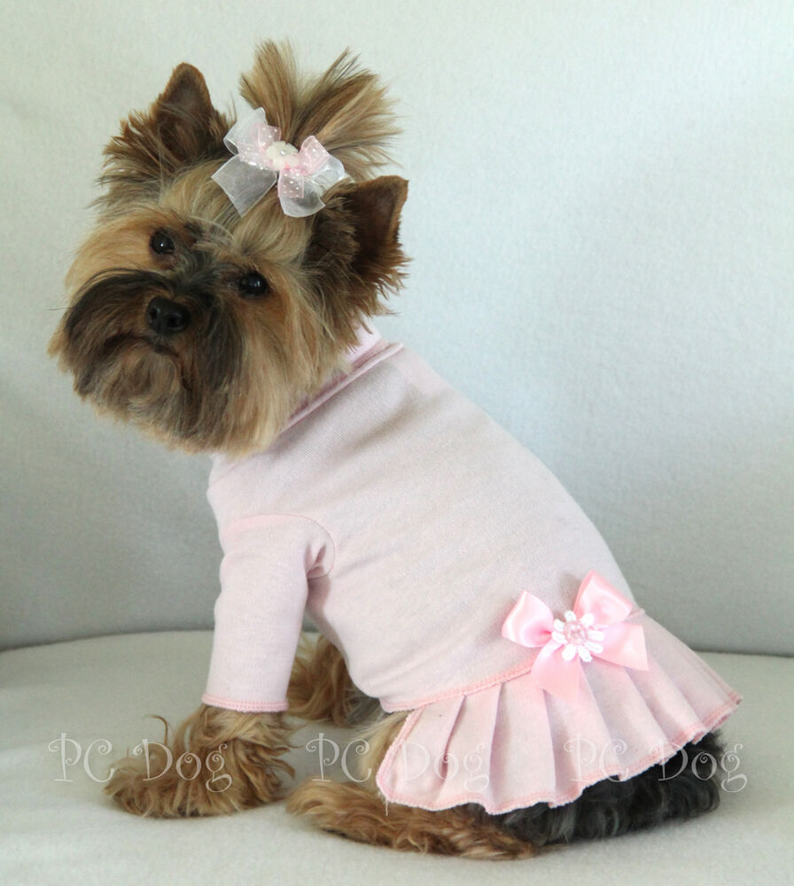 Knitting Pattern For Teacup Dog : XXS Baby Pink Turtleneck T Shirt Dog Dress Knit clothes ...