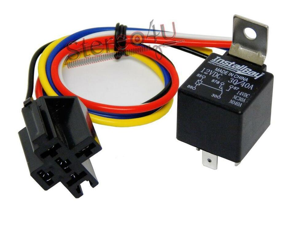 1 Pack The Install Bay 30  40 Amp Relay Harness Spdt 12v