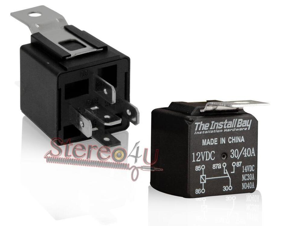 1 pack the install bay rl3040 12 volt 30 40 amp relay. Black Bedroom Furniture Sets. Home Design Ideas