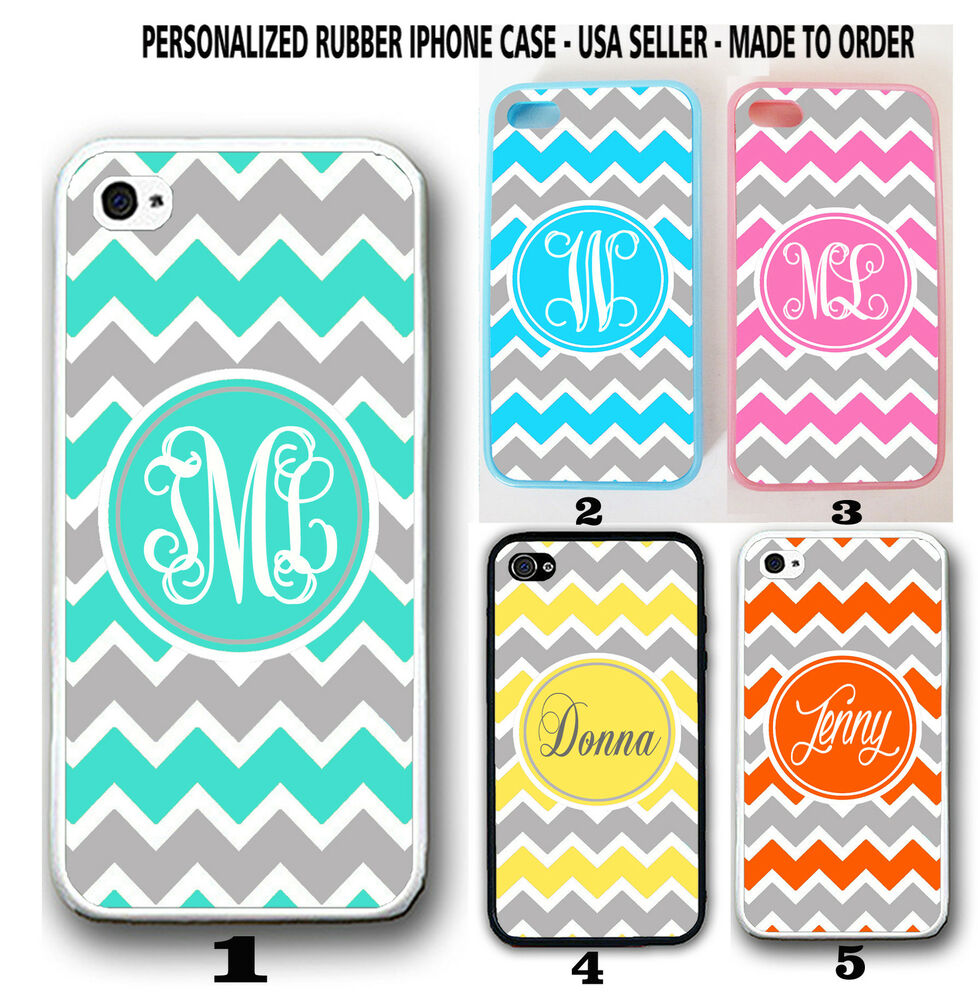 personalized iphone cases personalized pink yellow grey chevron monogram 3116