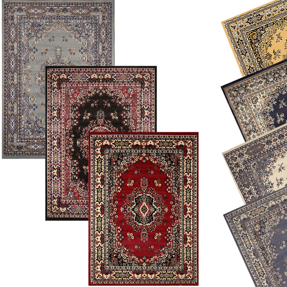 Traditional oriental medallion area rug persian style for Area carpets and rugs