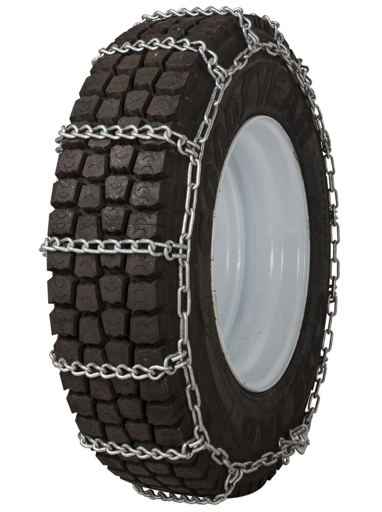 quality chain 2239 non cam 7mm link tire chains snow traction commercial truck ebay. Black Bedroom Furniture Sets. Home Design Ideas