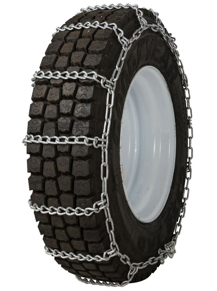 quality chain 2257 non cam 8mm link tire chains snow traction commercial truck ebay. Black Bedroom Furniture Sets. Home Design Ideas