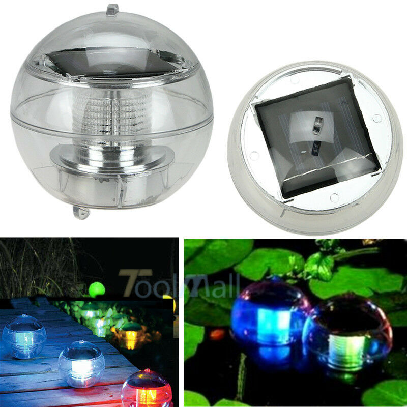 Led Light Solar Power Swimming Pool Automatical Color Changing Floating Ball New Ebay