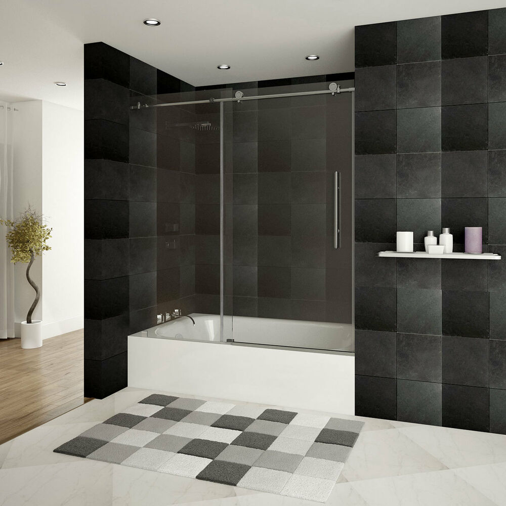 Bathtub Door Frameless 56 60 W X 62 H Ultra C Brushed