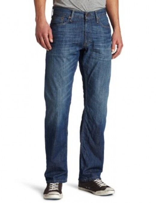 levi 39 s 550 relaxed fit jeans pants mens 30 32 34 35 36 long denim blue new ebay. Black Bedroom Furniture Sets. Home Design Ideas