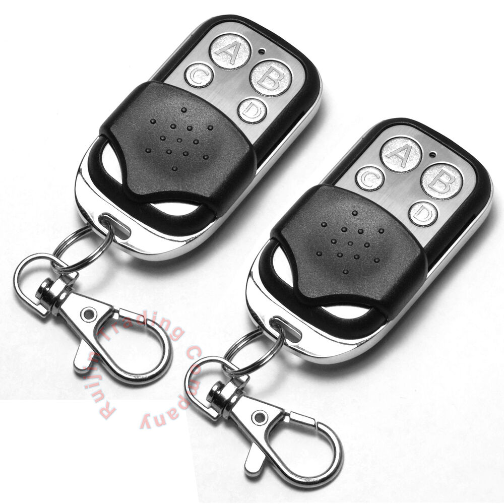 2x universal replacement garage door gate car cloning remote control key fob 433 ebay. Black Bedroom Furniture Sets. Home Design Ideas