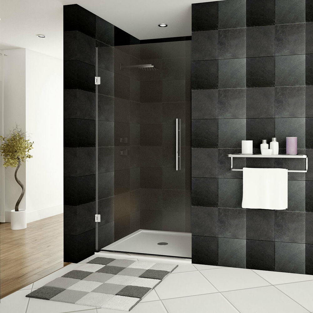shower door frameless 24 w x 72 h ultra e chrome ebay. Black Bedroom Furniture Sets. Home Design Ideas