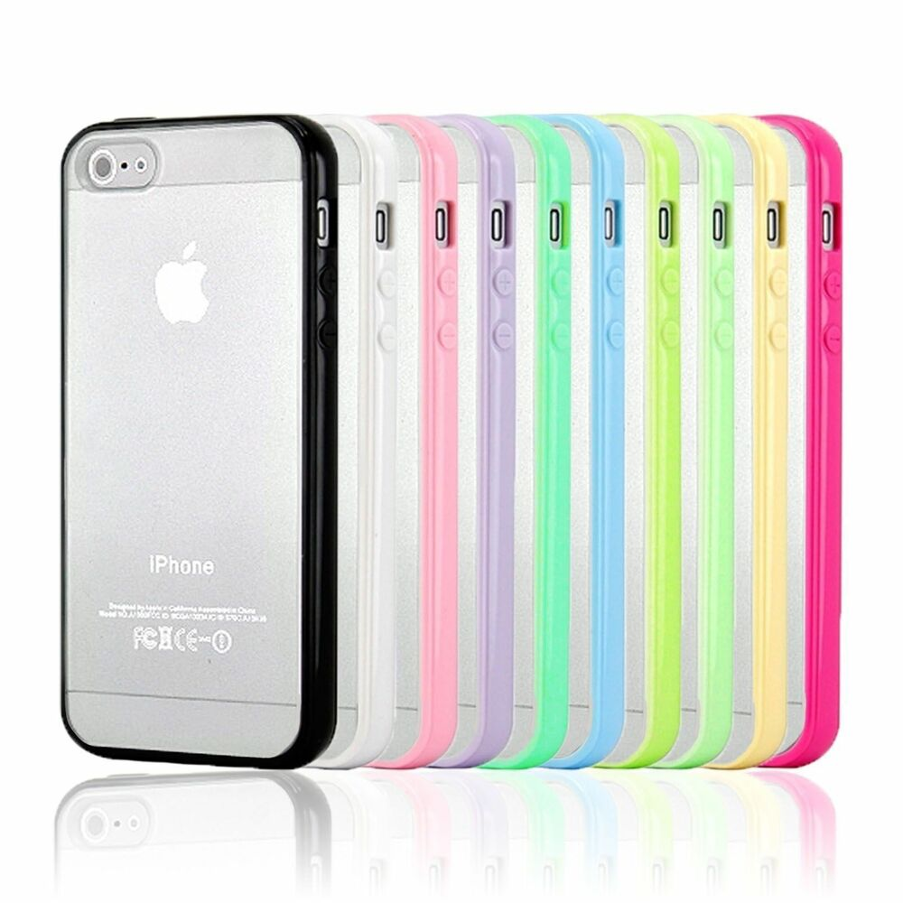 tpu bumper pc matte clear back case cover for iphone 4 4s. Black Bedroom Furniture Sets. Home Design Ideas