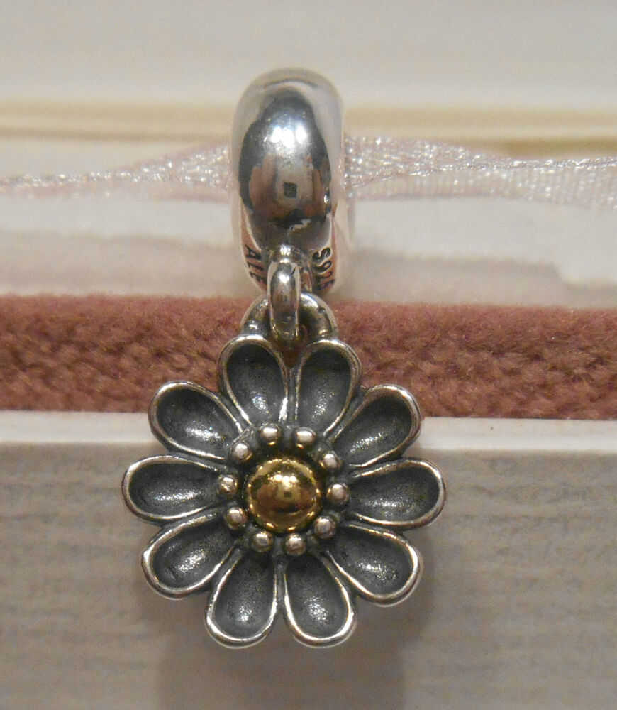 Authentic pandora oopsie daisy silver 14k gold pendant for Sell gold jewelry seattle