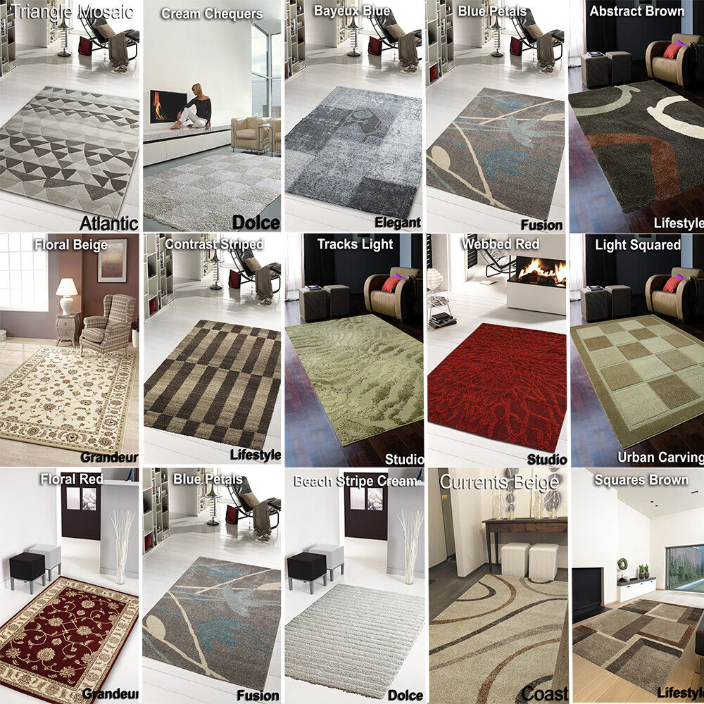 Clearance rugs new cheap rugs large medium soft living room ebay for Large living room rugs for sale
