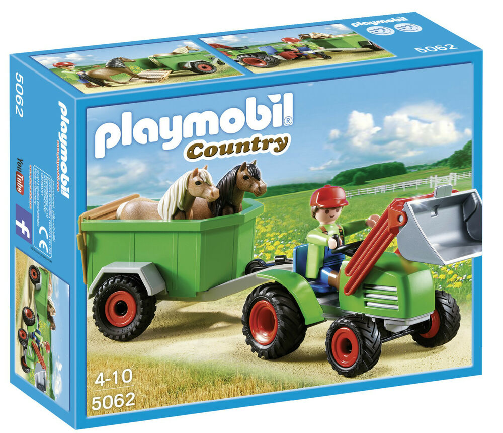 playmobil 5062 traktor trecker mit anh nger und frontlader. Black Bedroom Furniture Sets. Home Design Ideas