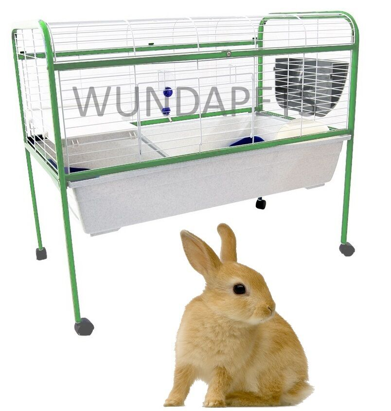 Wundapets r4a indoor rabbit guinea pig cage hutch on stand for Guinea pig stand