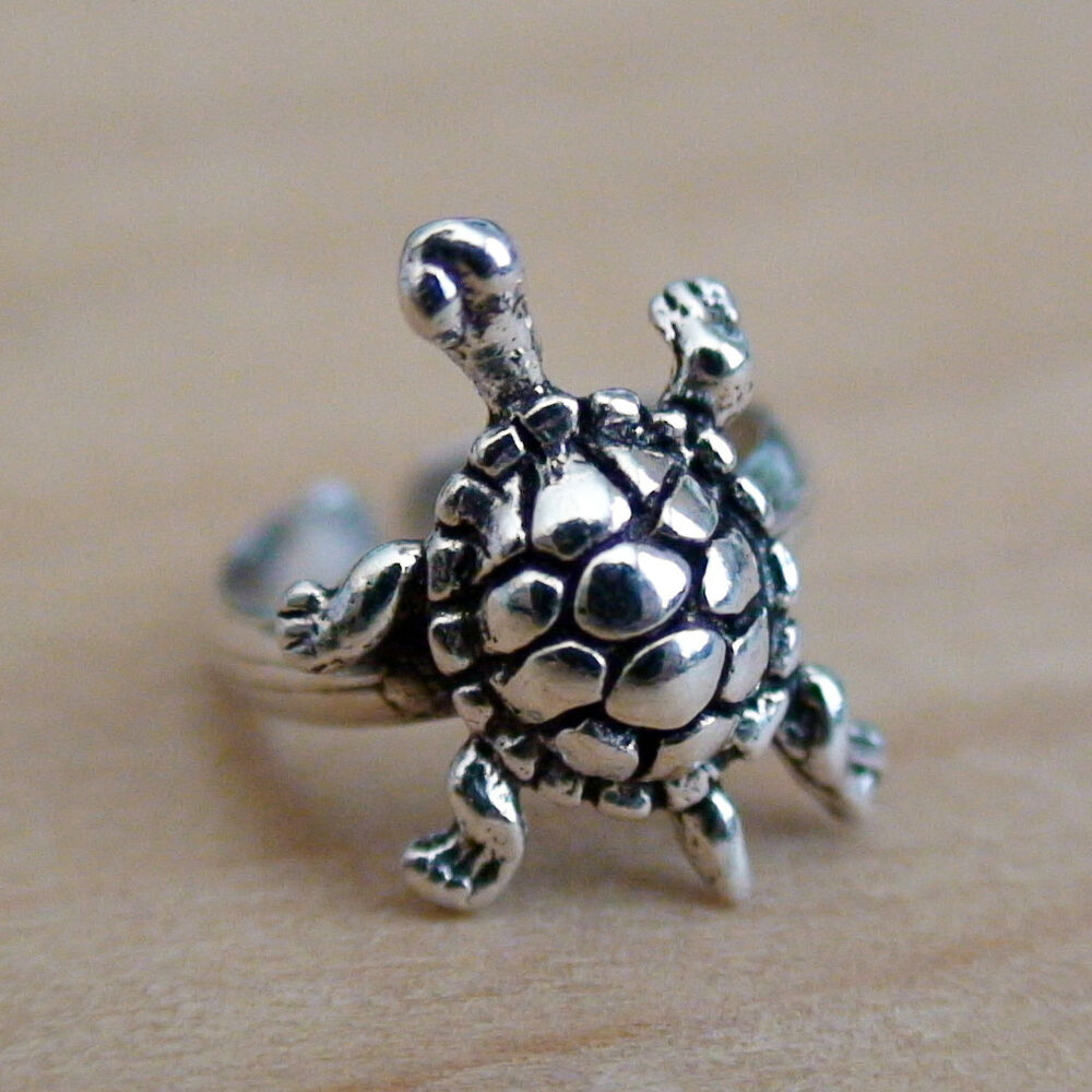 tiny turtle ear cuff 925 sterling silver no piercing. Black Bedroom Furniture Sets. Home Design Ideas