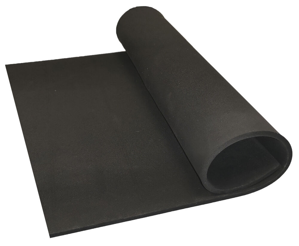 Black Neoprene Plain Sponge Foam Rubber Sheet X 1 5mm
