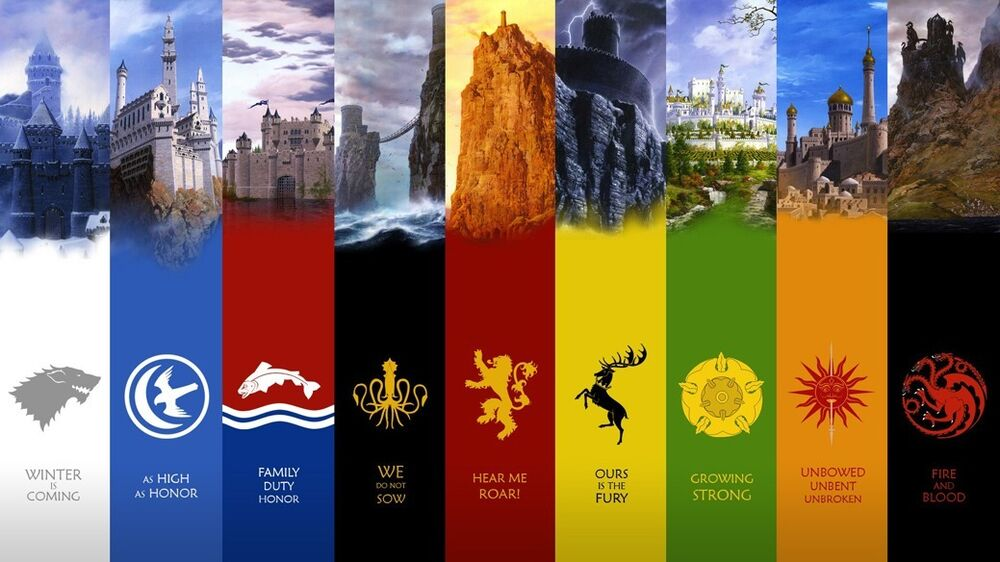 Game of Thrones seven kingdoms map Fabric Art Cloth Poster