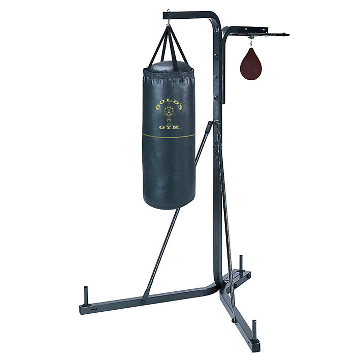Heavy Equipment Frames : Golds gym free standing boxing stand kickboxing punch bag