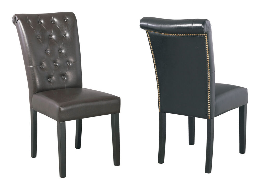 Black Brown Faux Leather Dining Chairs Thick Foam Padded  : s l1000 from www.ebay.co.uk size 1000 x 708 jpeg 44kB
