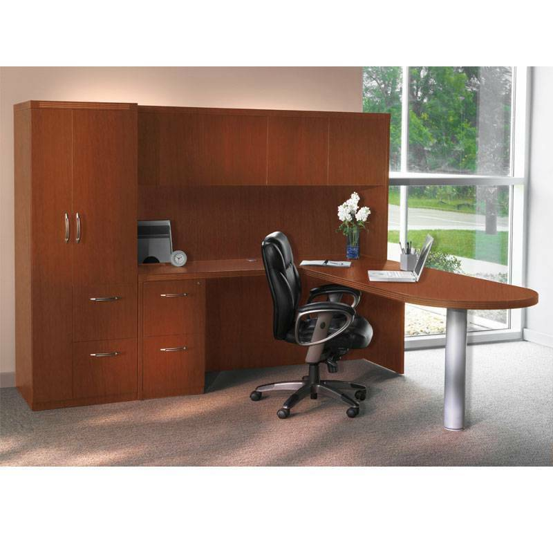 Mayline Aberdeen Executive L Shaped Desk Package | eBay