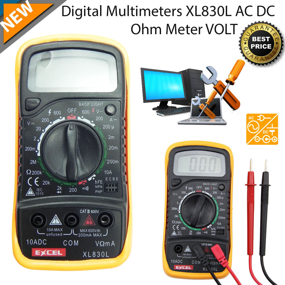Ac Dc Digital Voltmeter Kit : Digital lcd multimeter voltmeter ammeter ac dc meter ohm
