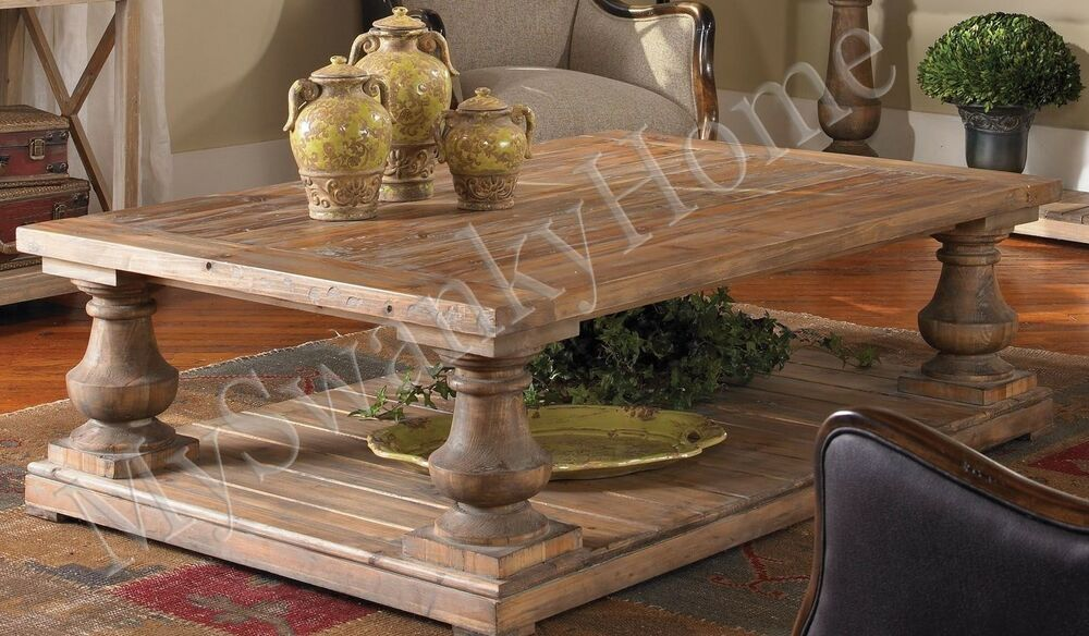 Classic horchow architectural coffee table cocktail rustic for Architectural coffee table