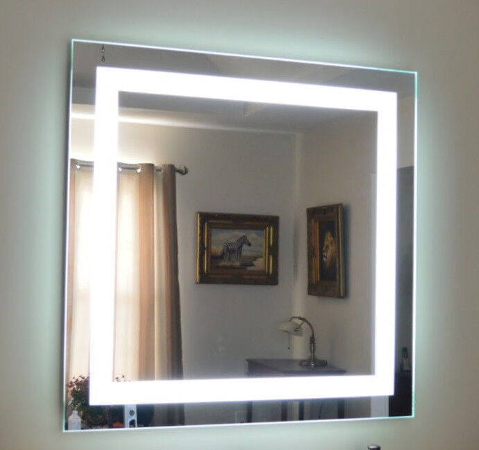 lighted vanity mirrors make up wall mounted 48 wide x 48 tall. Black Bedroom Furniture Sets. Home Design Ideas