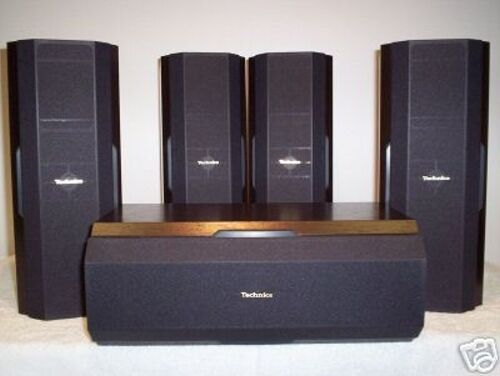 technics sb afc250 5 home cinema 100w 5pack loudspeakers ebay. Black Bedroom Furniture Sets. Home Design Ideas