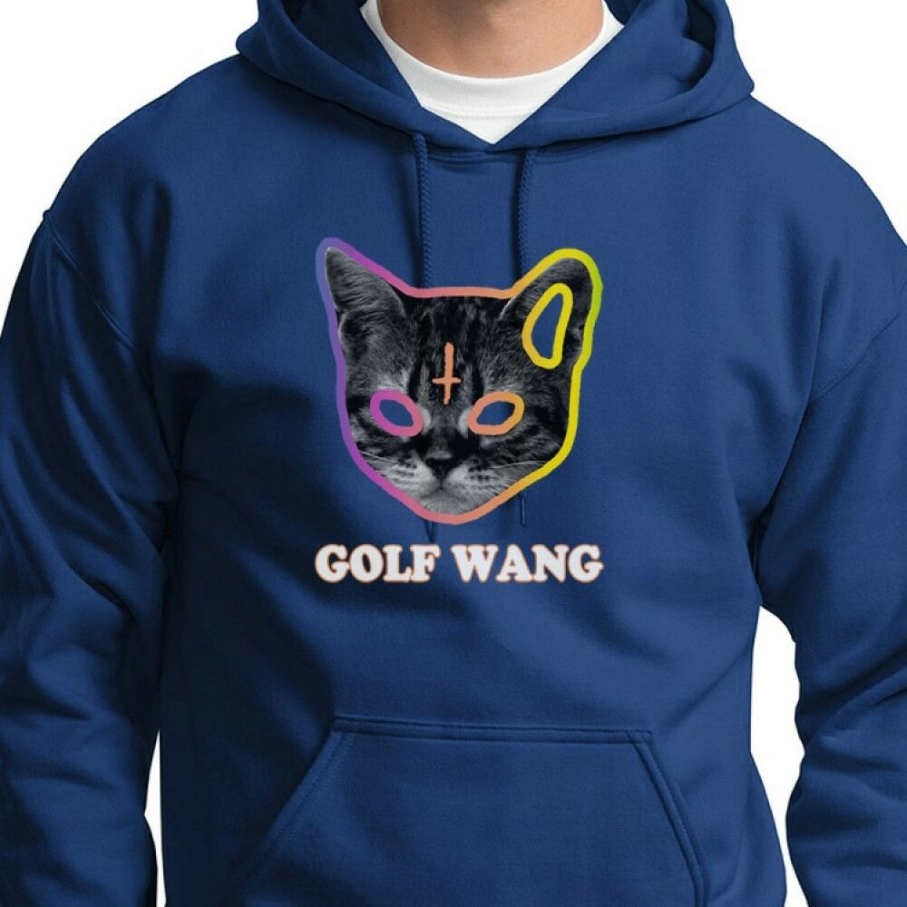 c0de149329d4 Details about Golf Wang Cat OFWGKTA Tyler the Creator Odd Future Wolf Gang Hoodie  Sweatshirt