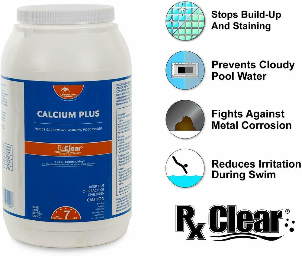 Rx Clear Granular Calcium Hardness Increaser Plus For Swimming Pools 7 Lbs Ebay