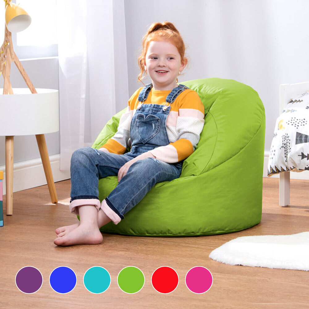 Childrens beanbag cup chair kids seat teen indoor outdoor for Small chair for kid