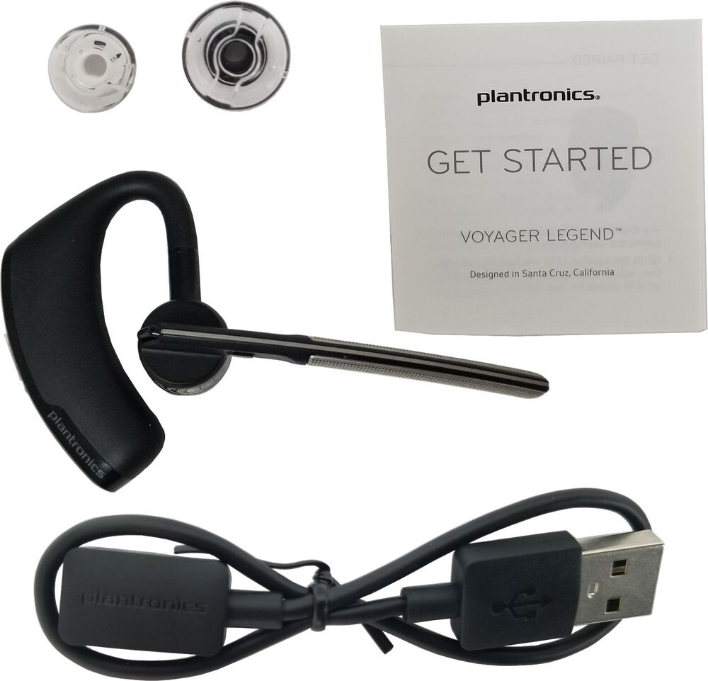 New OEM Plantronics Voyager Legend Universal Bluetooth Wireless Headset Black 17229141094