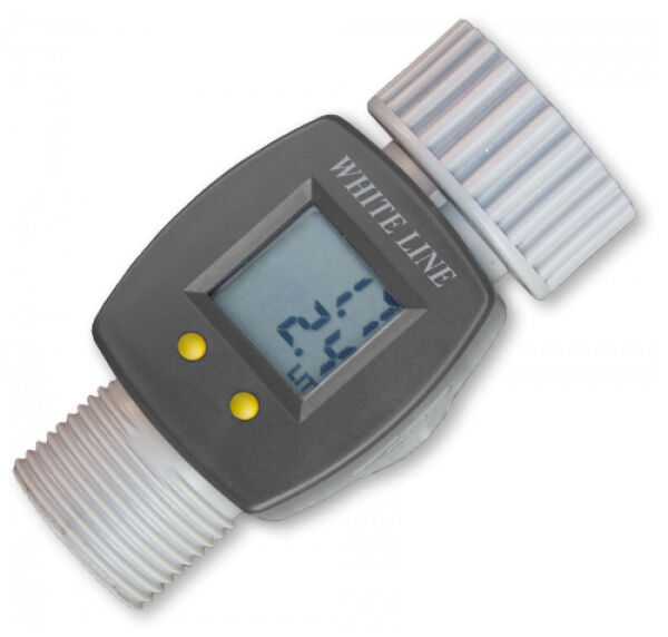 Electronic Water Flow Meter : Digital electronic water smart flow meter for garden hose