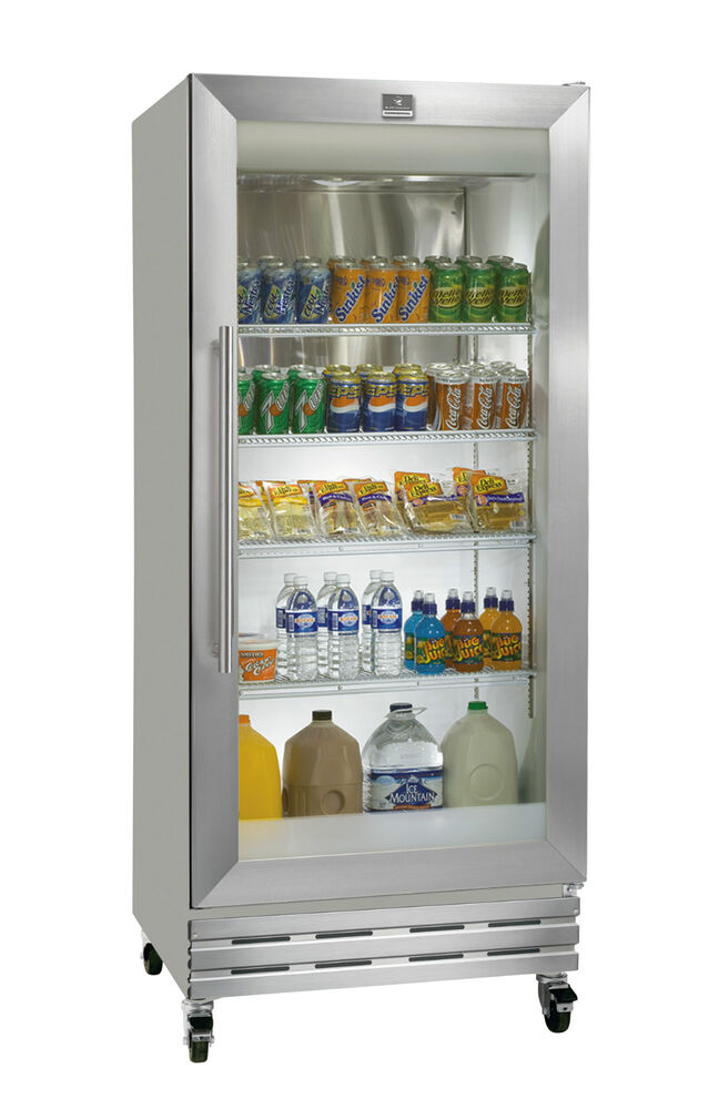 18cf Kelvinator Single Glass Door Refrigerator Cooler