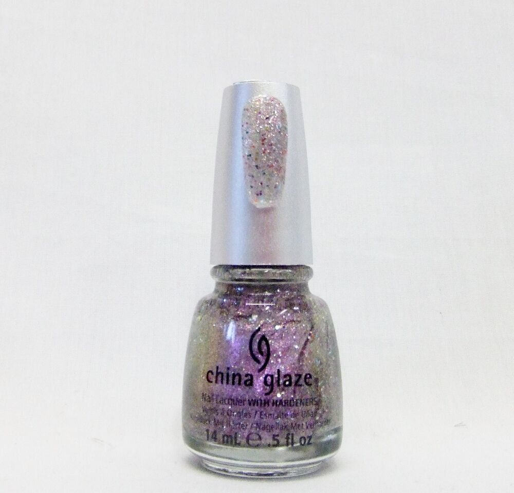 China Glaze Nail Polish Prismatic Holographic 3 D Glitter