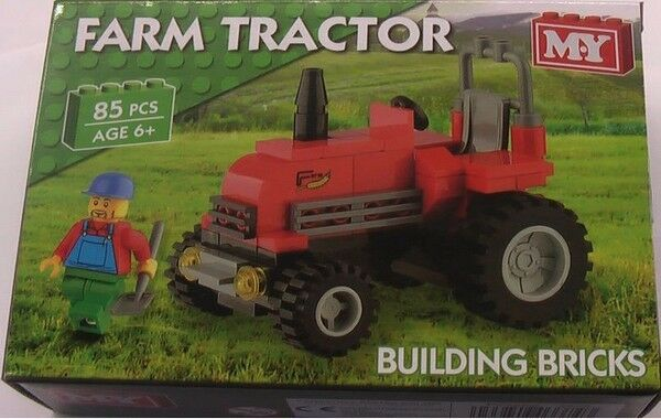 Farm Implement Pieces : Toy building bricks red farm tractor pieces ebay